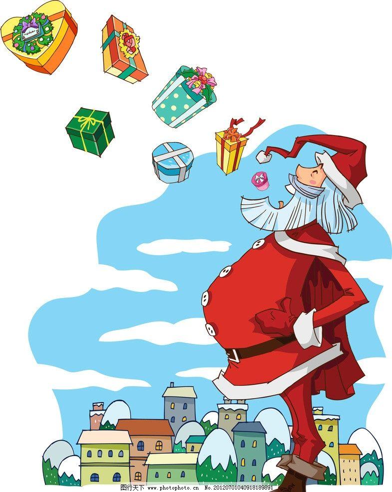幼儿手绘圣诞老人