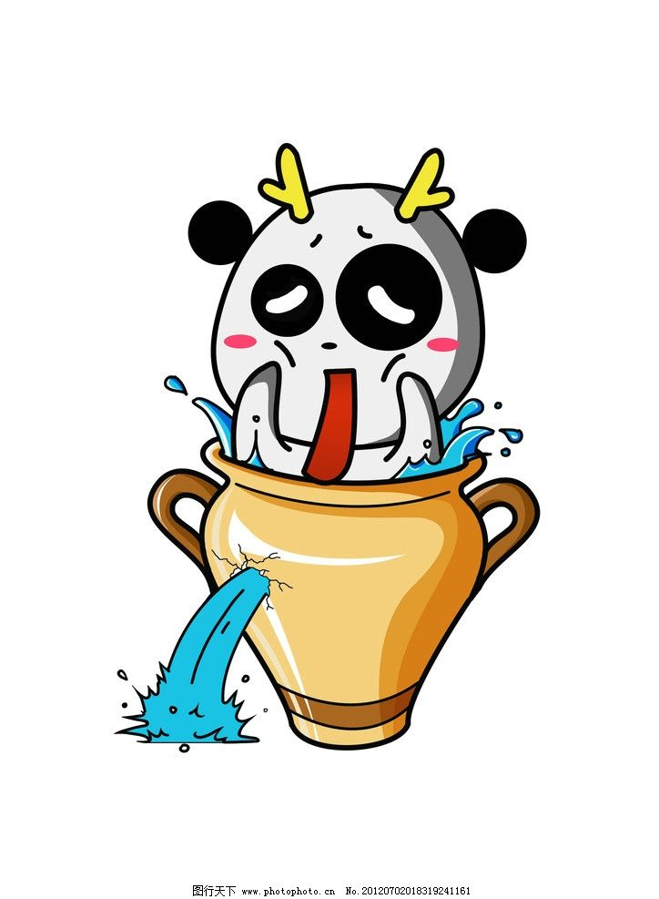 水瓶座萌龙 十二星座 萌龙 水瓶座 动漫人物 动漫动画 设计 300dpi