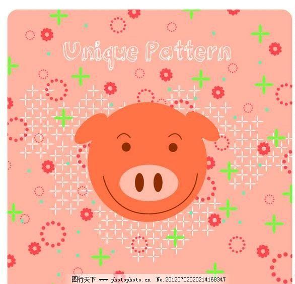 卡通小猪背景图片