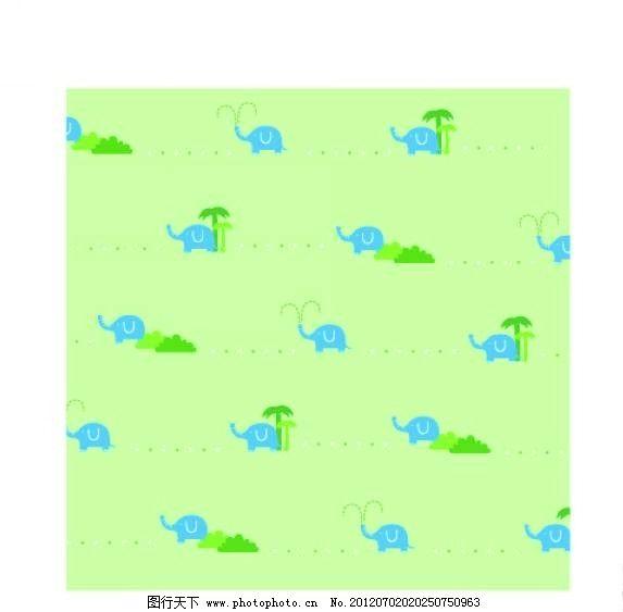 小象 大象 矢量 设计 素材      背景 底纹 图案 图腾 线条 花纹 条纹
