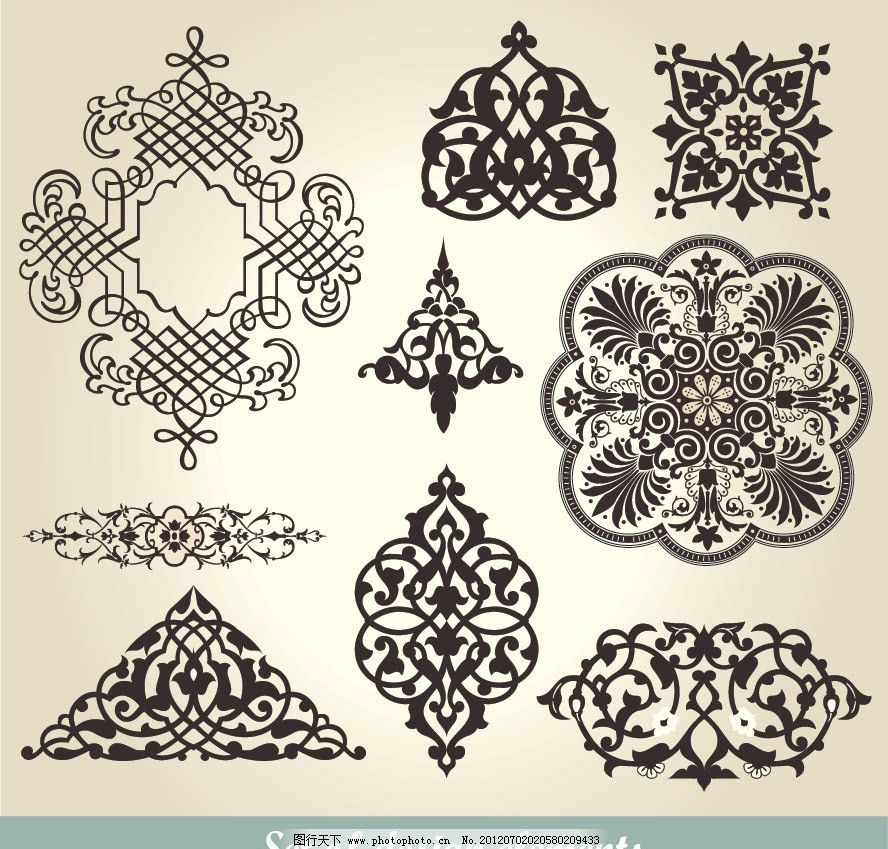 欧式花纹 欧式 古典 古代