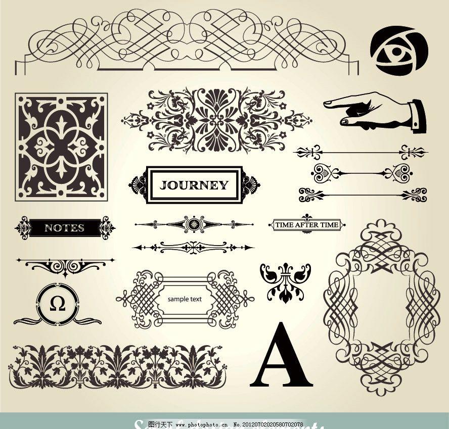 欧式花纹标签设计图片