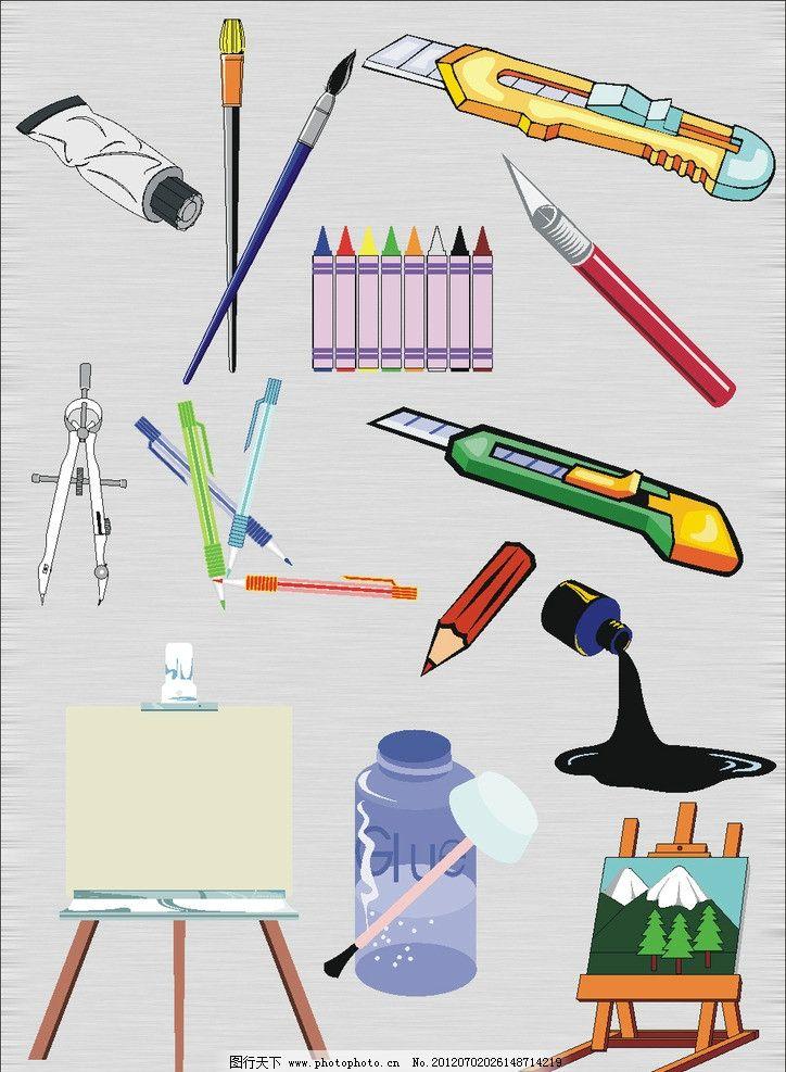 繪畫工具 繪畫 畫畫 畫筆 蠟筆 美工刀 小刀 圓規 墨水 畫板 圓珠筆