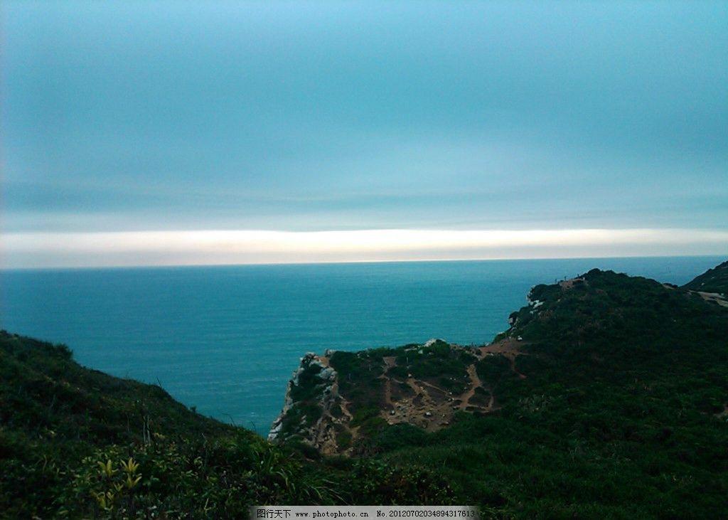 海的地平线 大海 山峦 天空 地平线 日出 自然风景 自然景观 摄影 72