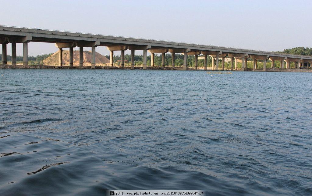 蓝天 碧水大桥 大河 大桥 碧水 水桥洞河水 自然风景 自然景观 摄影