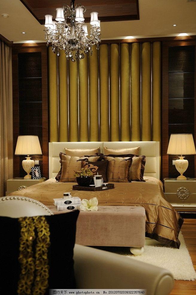 精装样板房卧室      欧式 吊灯 吊顶 木地板 沙发 精装样板房实景