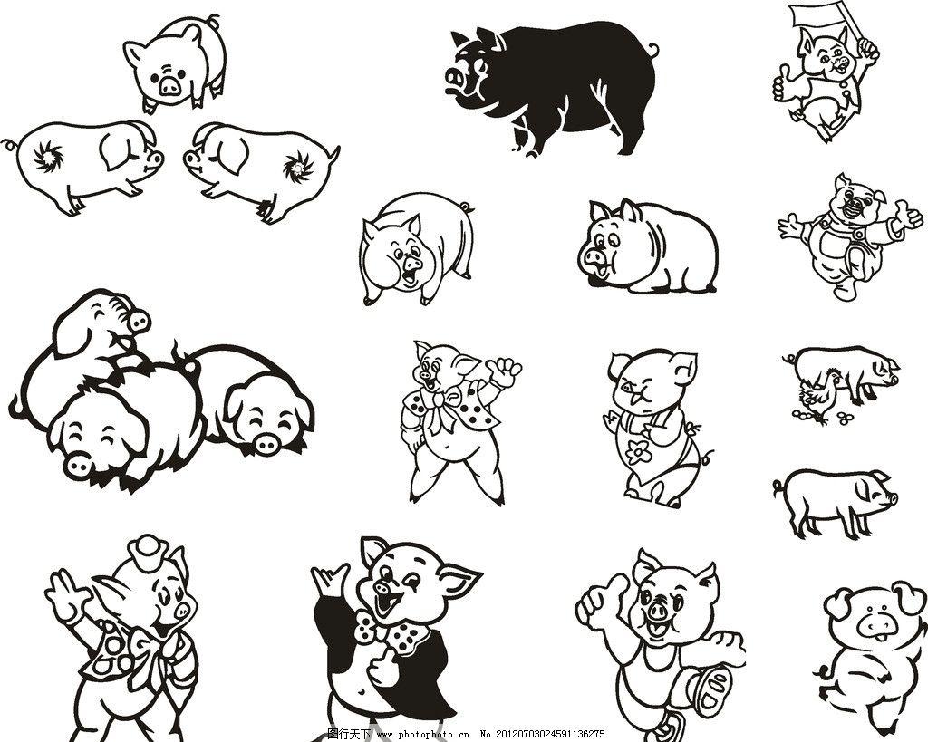 猪 卡通猪 小猪图片