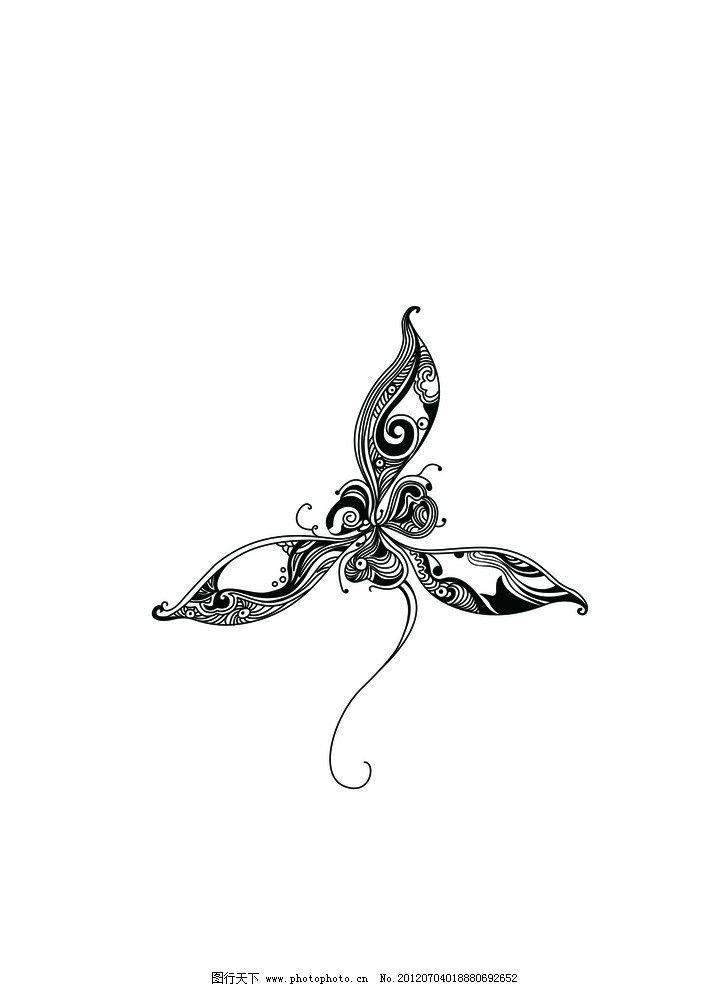 线描兰花 兰花 线描 创意 传统文化 文化艺术 设计 300dpi jpg