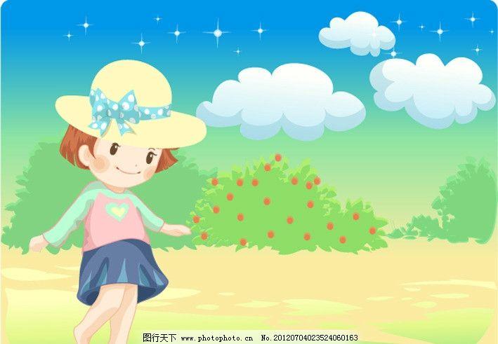 儿童画蓝天白云图片-蓝天白云卡通画图片/蓝天白云 儿童画/简单儿童画
