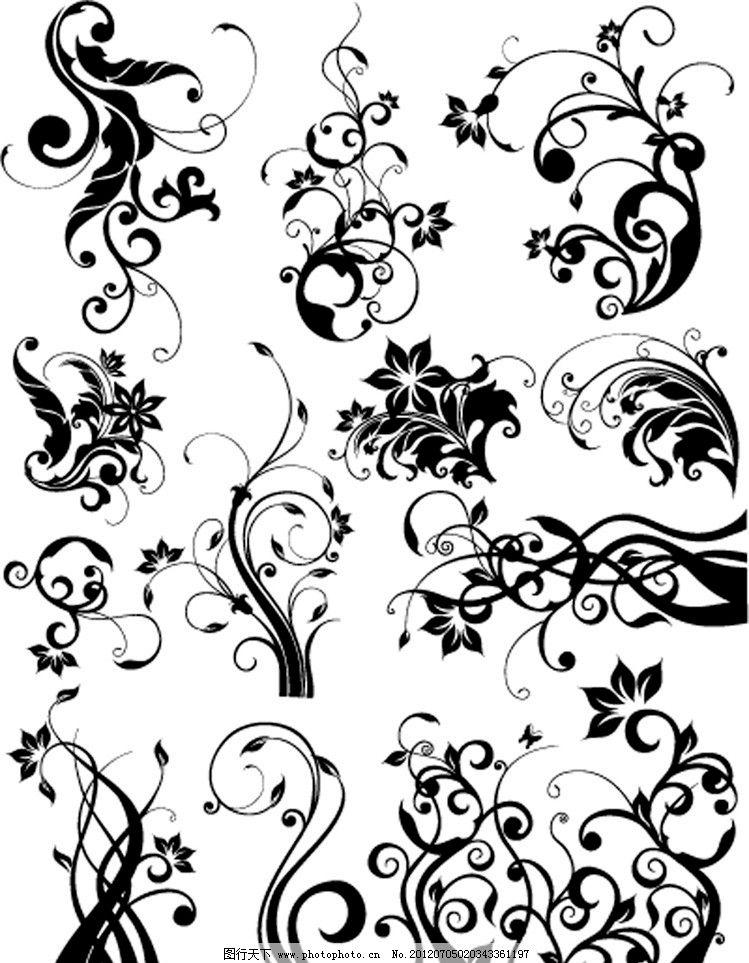 中式花纹 中式 火纹 云 云朵 云纹 简约 欧式花纹标签 欧式 花卉 植物
