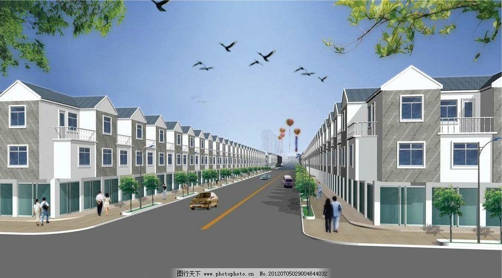 新农村二层门面规划效果图图片