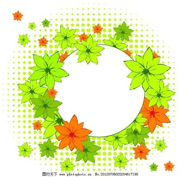 绿叶花环背景图片