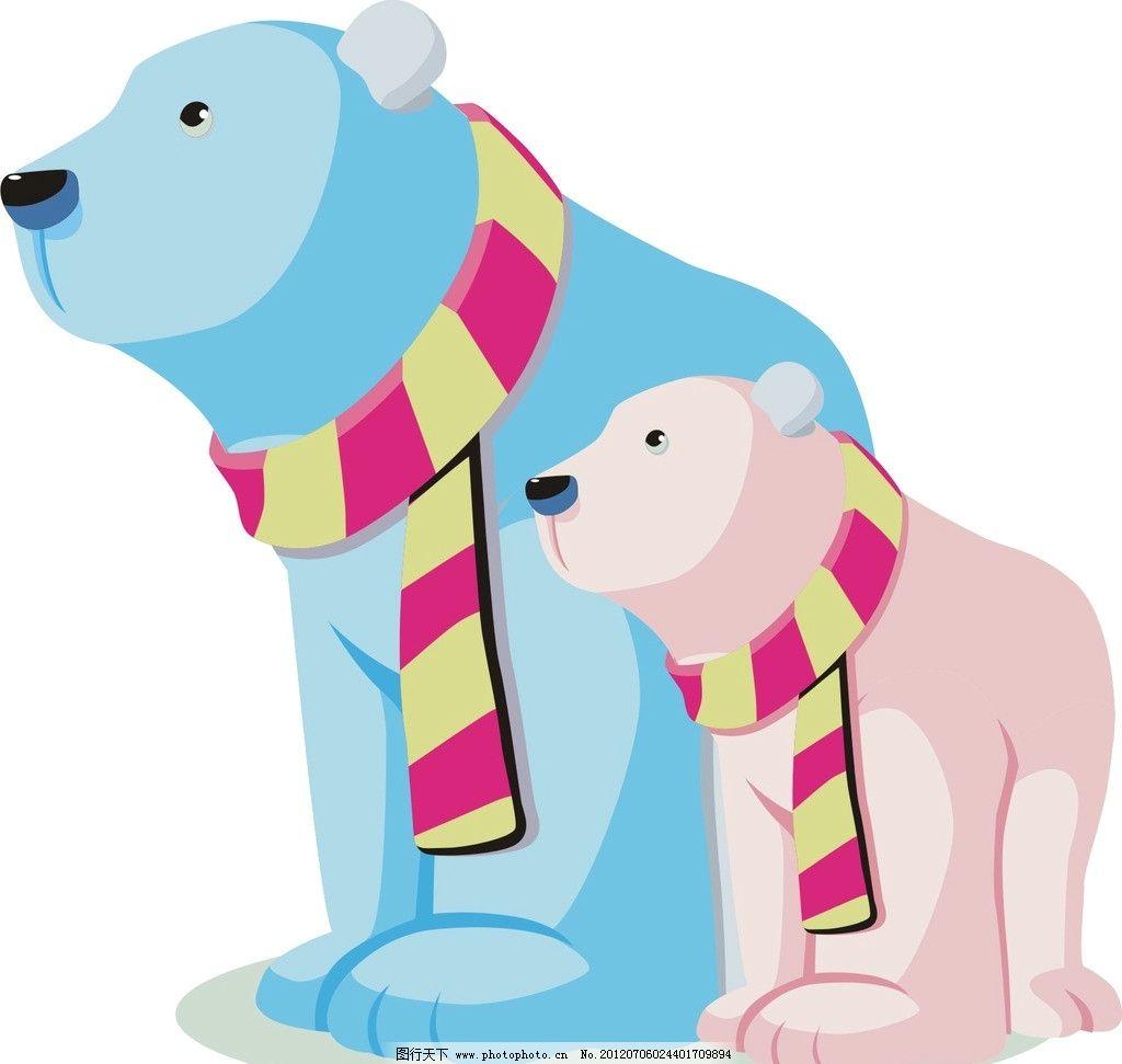 北极熊 野生动物 生物世界 矢量 cdr