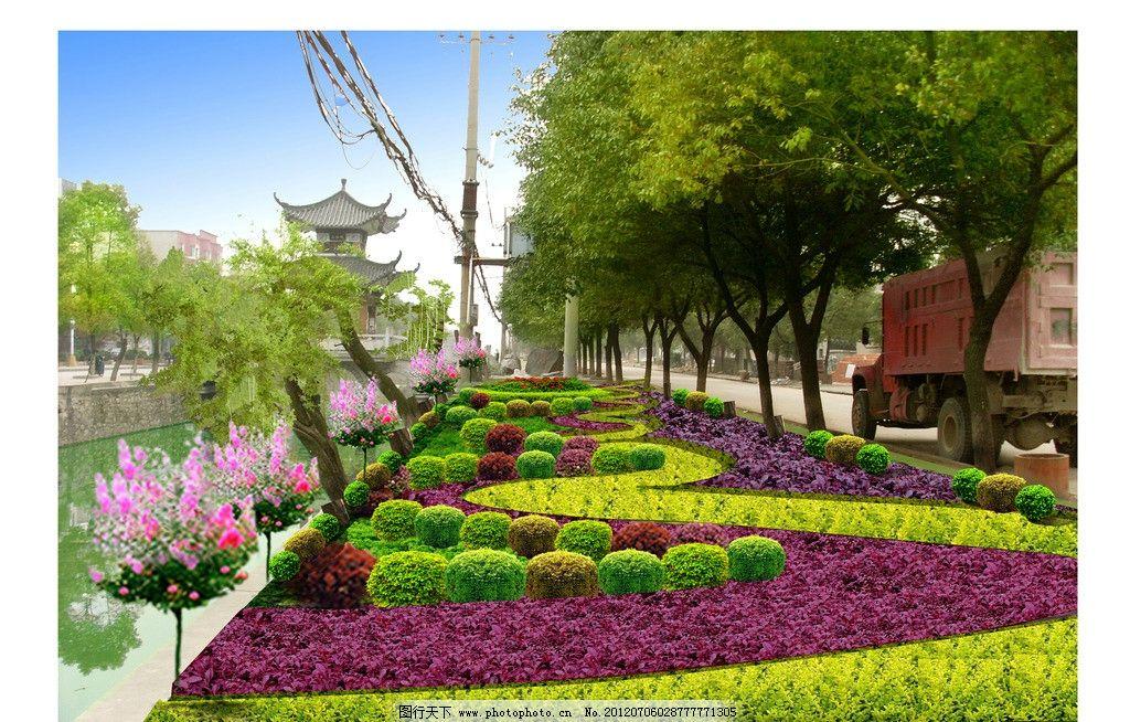 花园花坛效果图 景观绿化 园林景观 园林绿化 园林建筑 休闲文化广场
