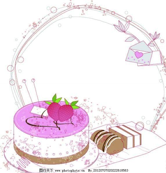 蛋糕甜点背景图片