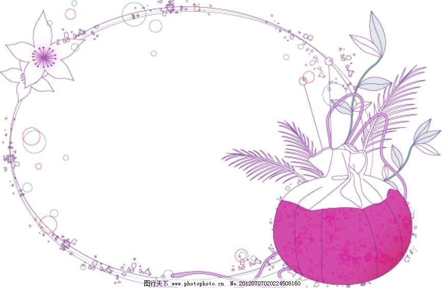 花朵植物背景图片_背景底纹_底纹边框_图行天下图库
