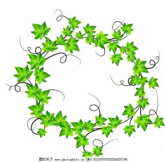 树叶绿叶背景 树叶 绿叶 叶子 花环 矢量 设计 素材      背景 底纹
