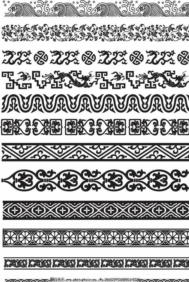 欧式花纹 海浪波浪花纹图片_条纹线条_底纹边框_图行