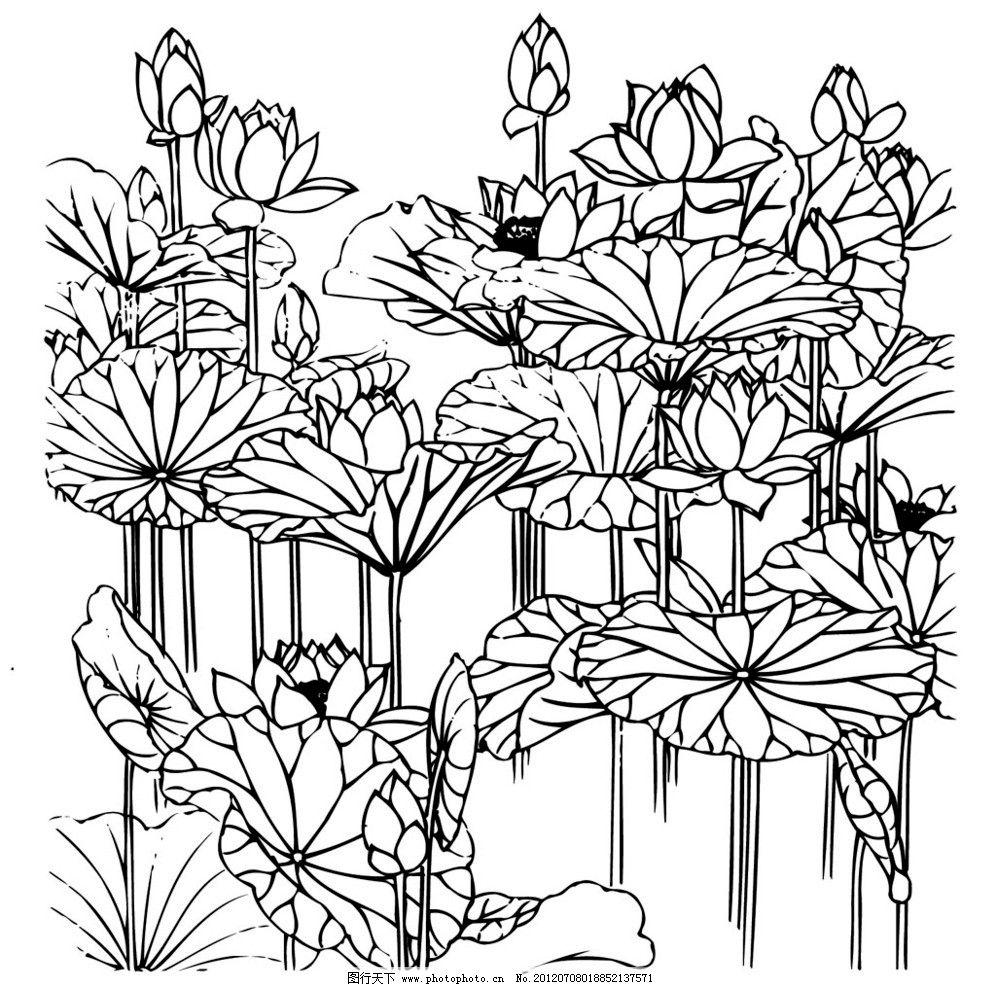 荷花刺绣矢量 古代 刺绣 荷花 中国 传统 文化 图案 花纹 矢量 传统