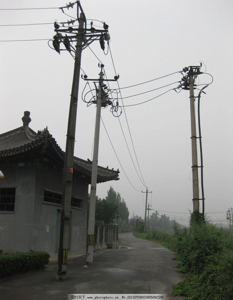 房子 电线杆图片图片