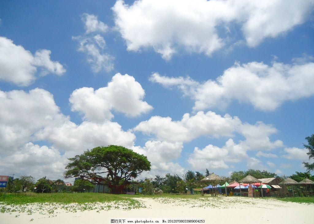 广西北海 广西 北海 银滩 细沙 海边 北部湾 蓝天 白云 迷人 景色