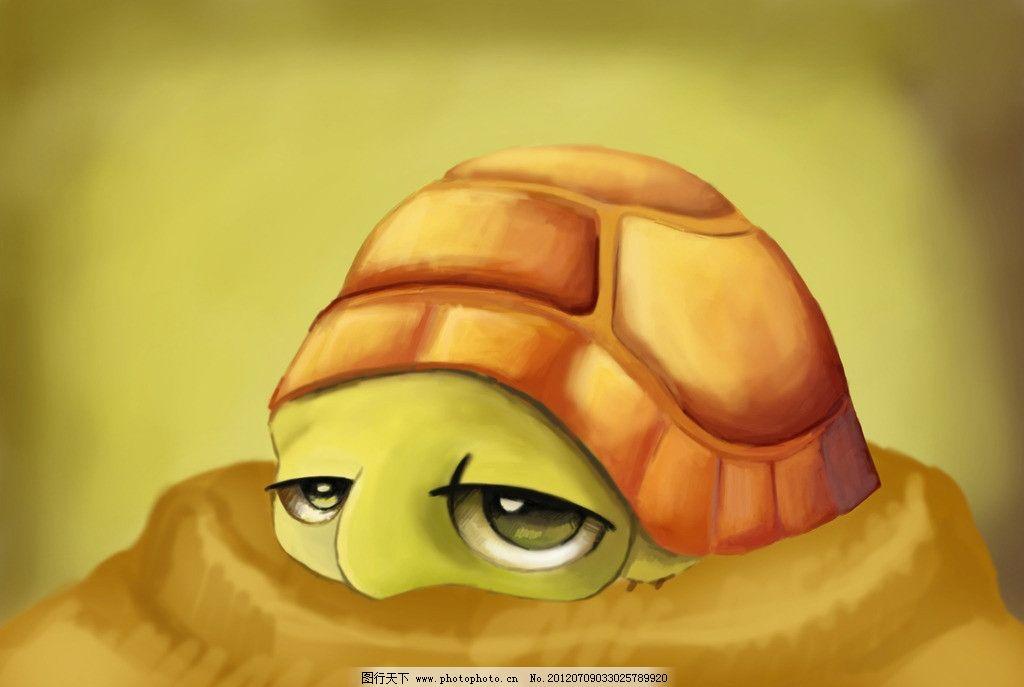 小乌龟 乌龟 卡通 可爱 趴着 眯眼睛 可爱动物 psd分层素材 源文件