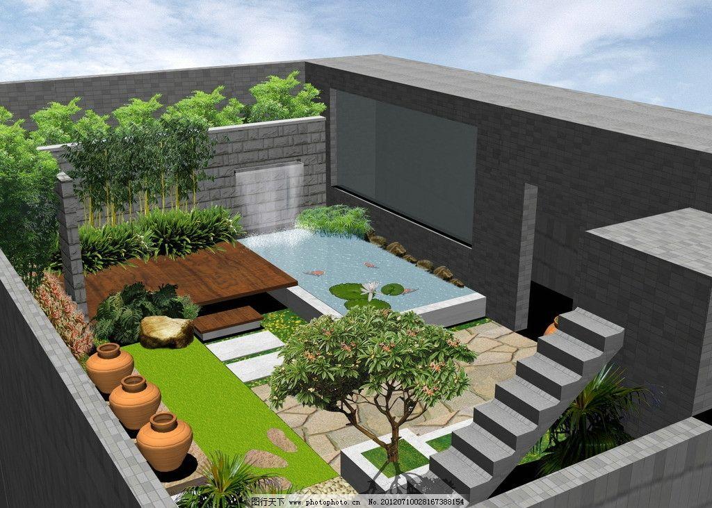 小庭院设计图片_景观设计_环境设计_图行天下图库