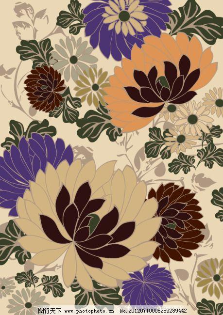 欧式花朵底纹 欧式花朵底纹免费下载 背景 矢量素材 叶子 叶子