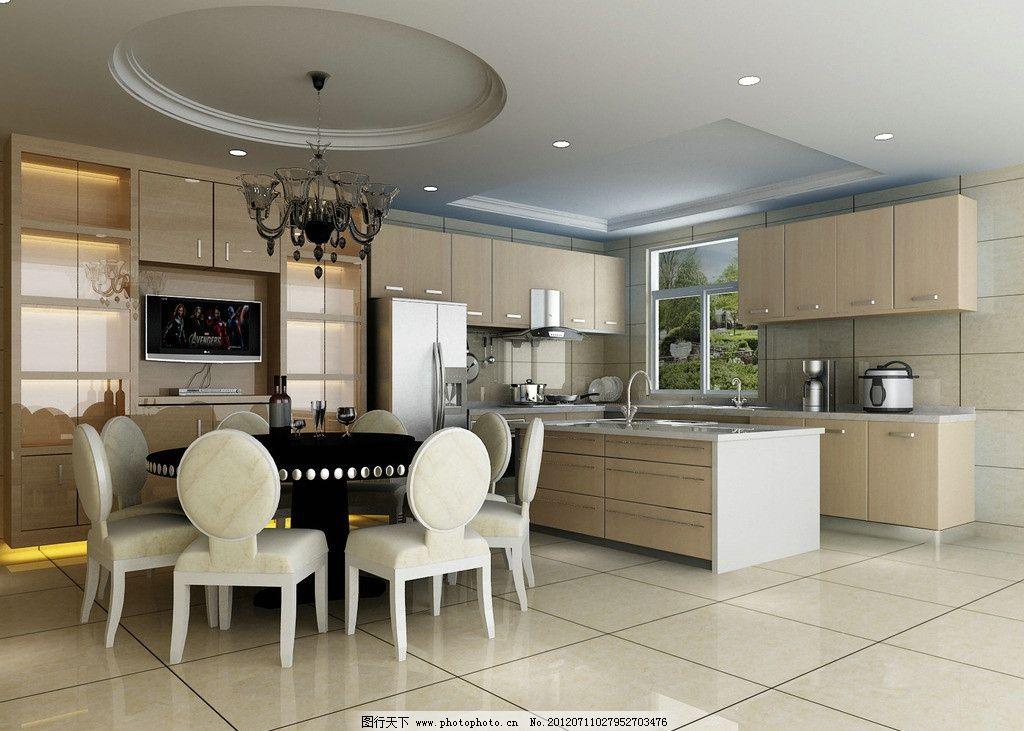 厨房效果图      3d效果图 餐厅效果图 装潢效果图 室内设计 环境设计