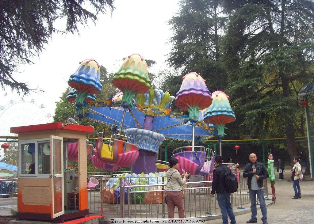 游艺机 红山森林动物园 动物园风景 滑车 过山车 自旋滑车 乐趣