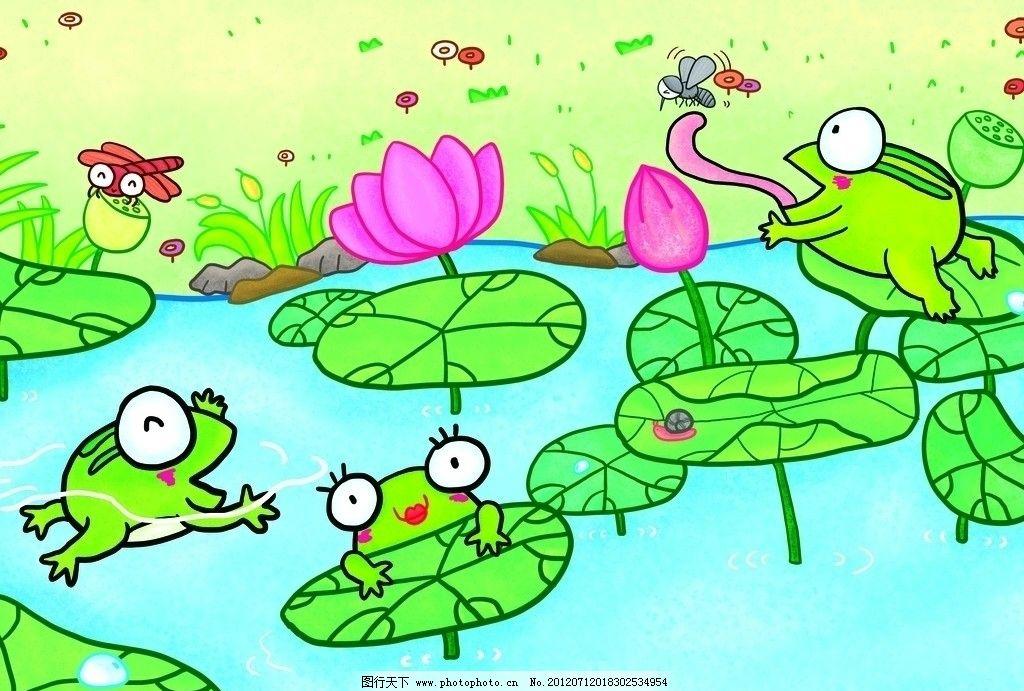 池塘荷花蜻蜓简笔画 简笔画大全荷花蜻蜓