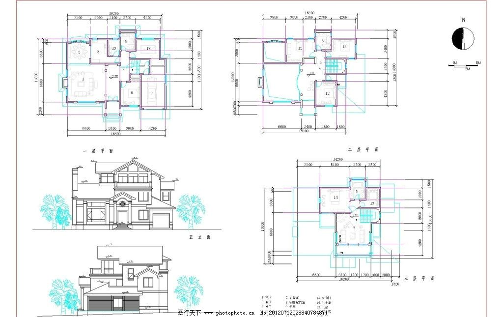 欧式l型三层别墅户型图图片