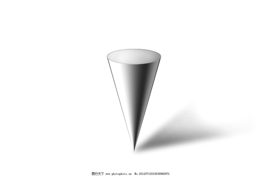 倒圆锥 圆锥体 圆锥素描 几何体 手绘 源文件