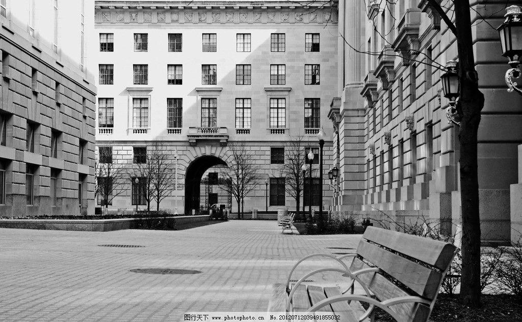 路灯 椅子 广场 人行道 国外建筑 建筑雕刻 欧式建筑 雕刻 欧式雕刻