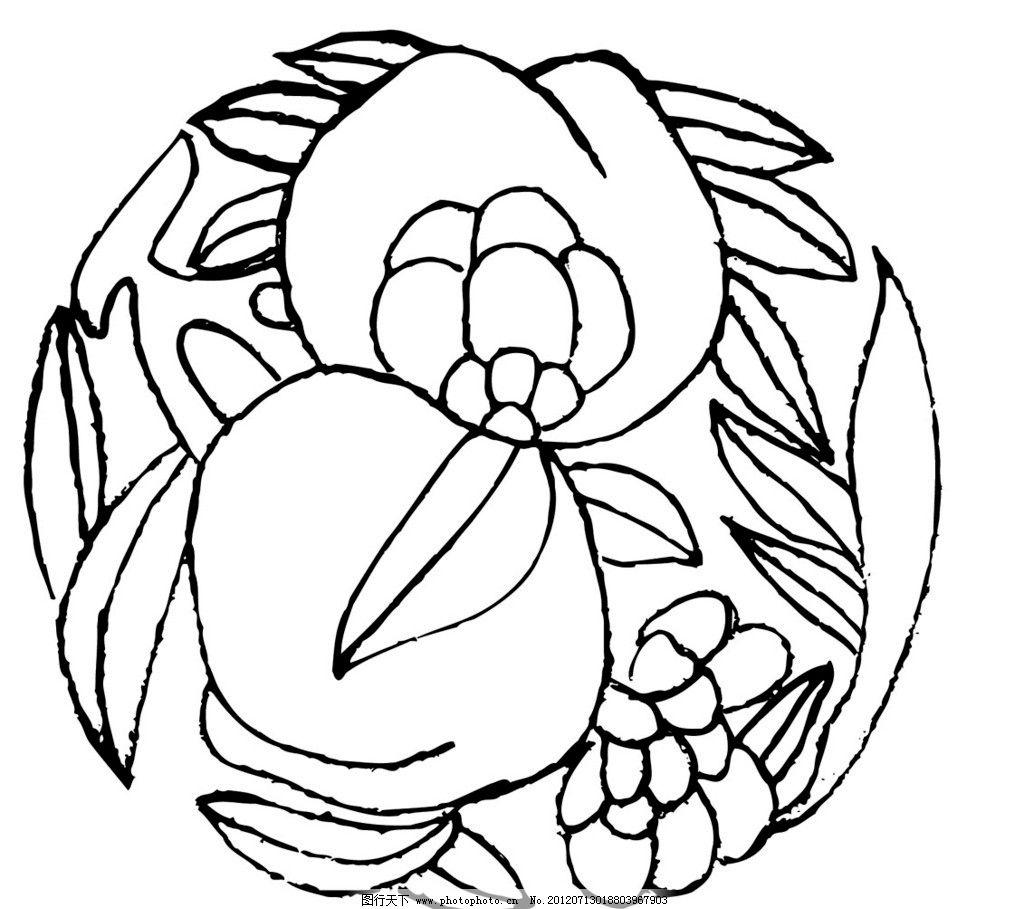 手绘刺绣图案线稿