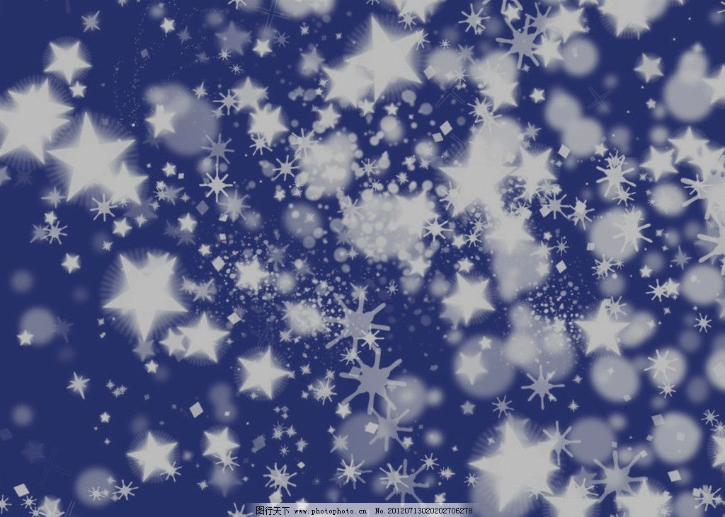 雪花飘落的星空图片