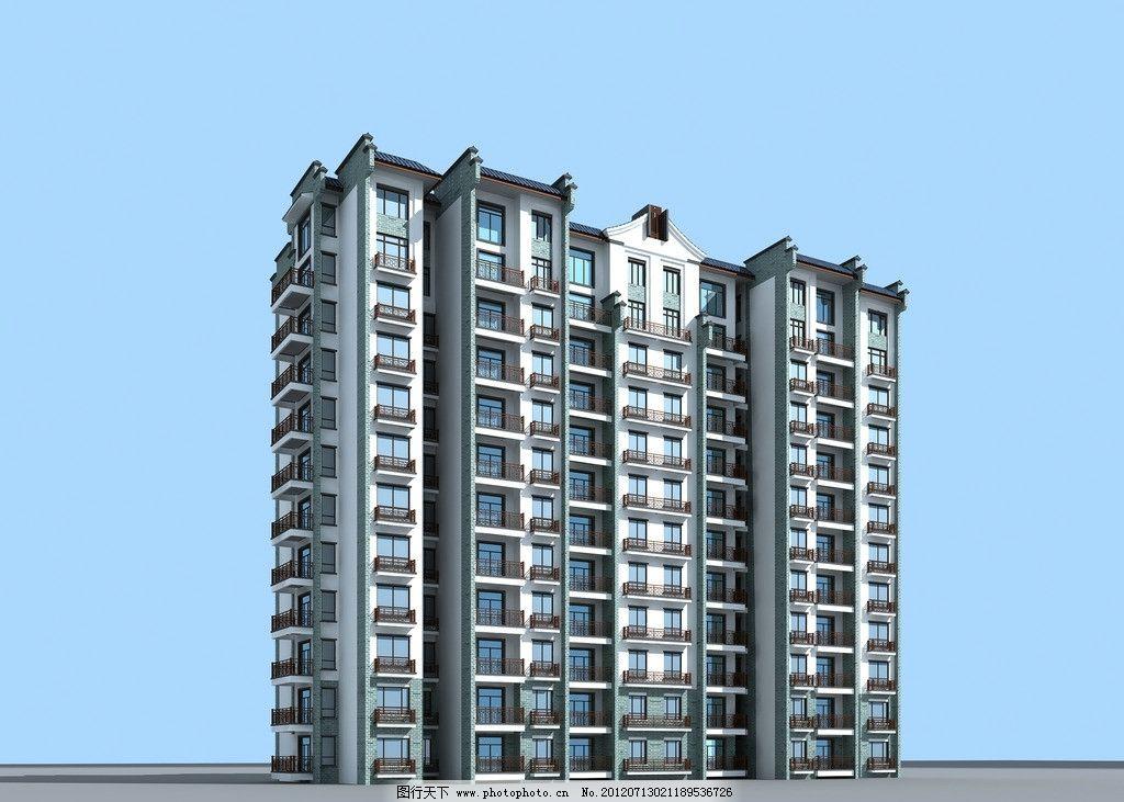 中式小高层住宅图片图片