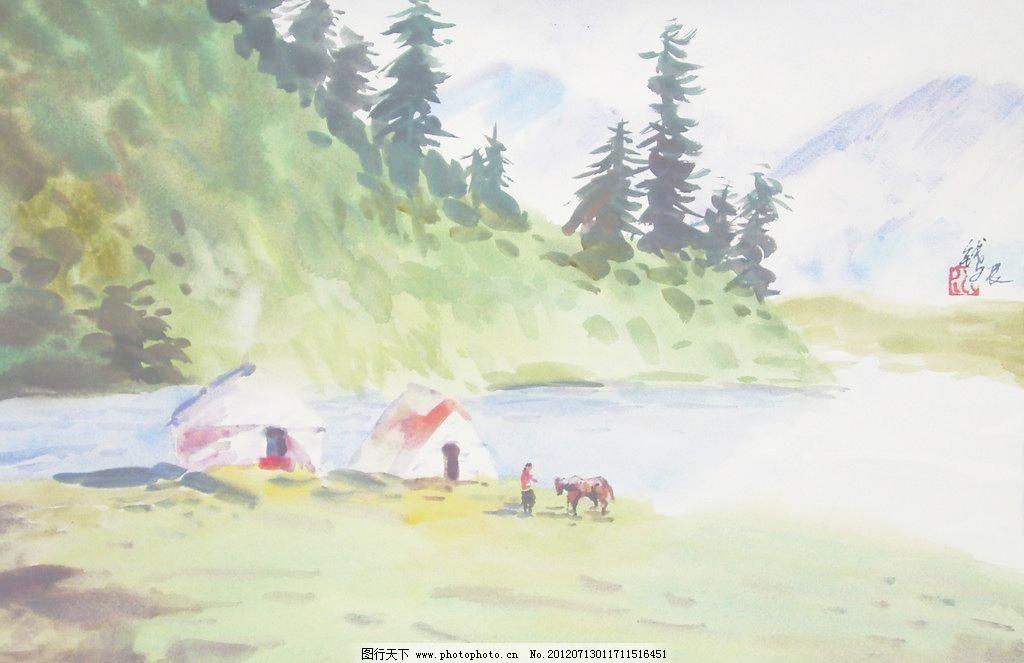风景水彩 动物 风景画 高考 挂画 绘画 绘画书法 景色 风景水彩设计素