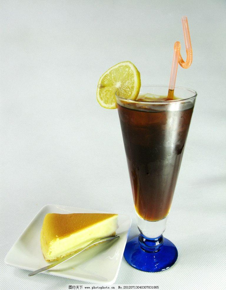 芝士蛋糕 英式 伯爵 红茶 果汁 糕点 西餐美食 摄影图片