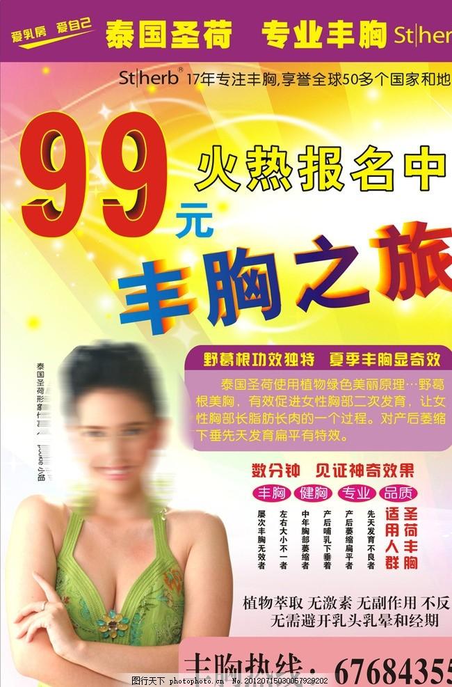 丰胸海报 圣荷 海报 99元 丰胸宣传单 海报设计 广告设计 矢量 cdr