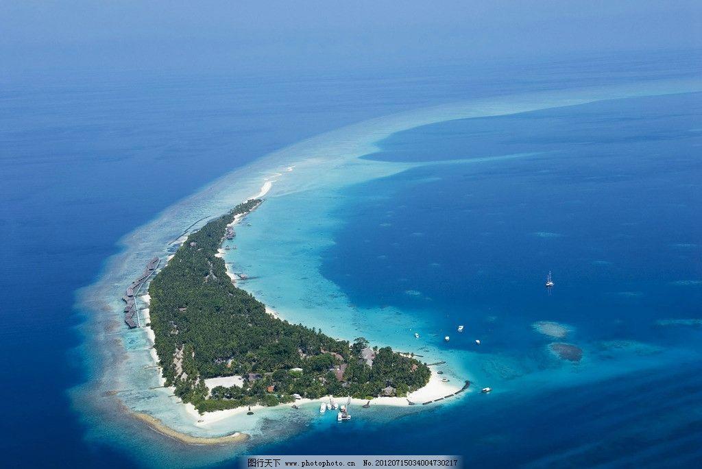 马尔代夫 蜜月岛 俯瞰图片