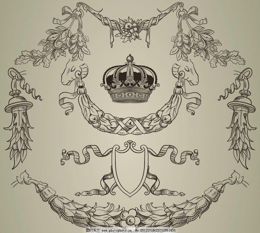 古典欧式花纹 皇冠图片