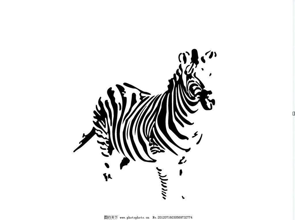 黑白 手绘 线条 图案