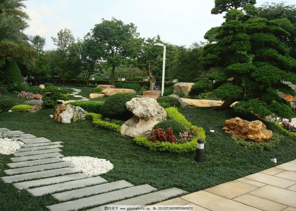 园林景观 园林绿化 奇石 小品 造树 仿石 园林景石 景墙 现代园林