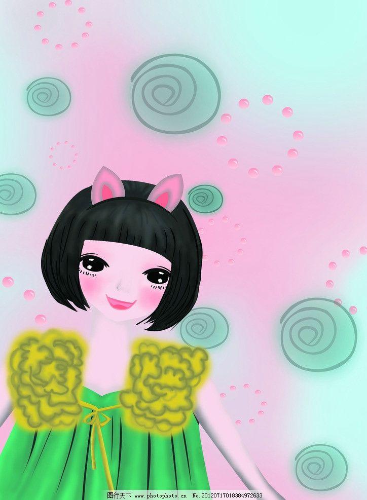 公主猫殿下 小女孩 小公主 可爱 甜甜圈 动漫人物 动漫动画 设计 300d