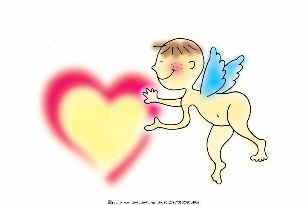 卡通画插画 卡通情侣 漫画卡通画 梦幻 卡通 动漫 底纹 可爱 爱心
