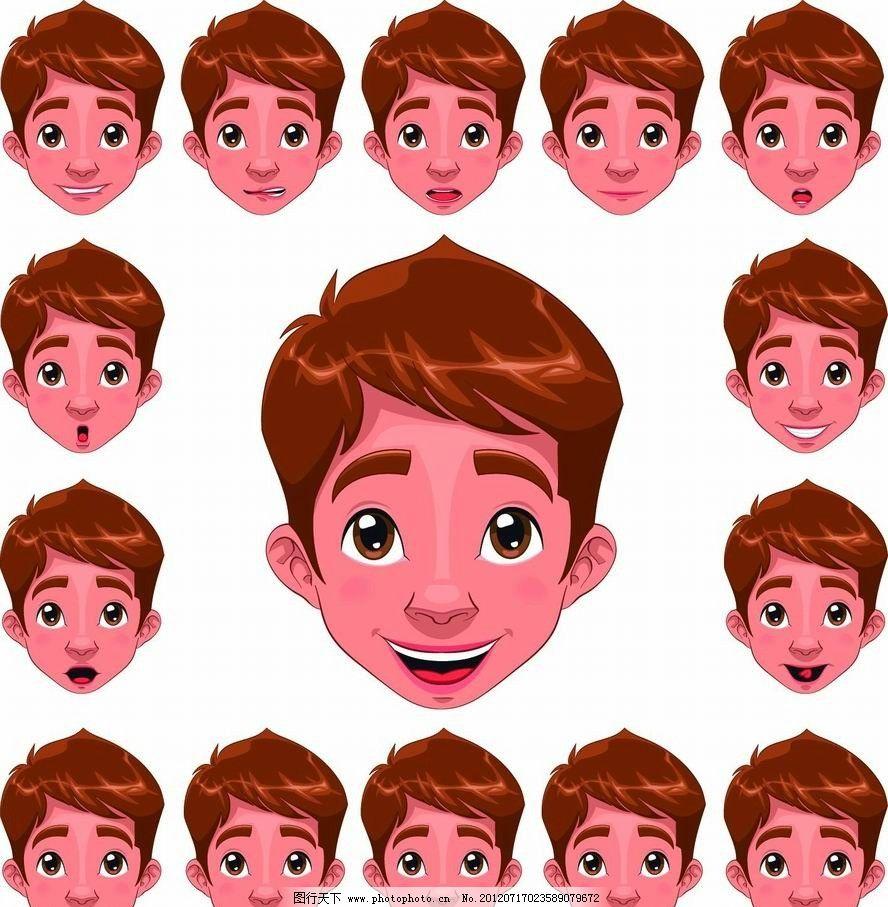卡通儿童表情头像图片图片