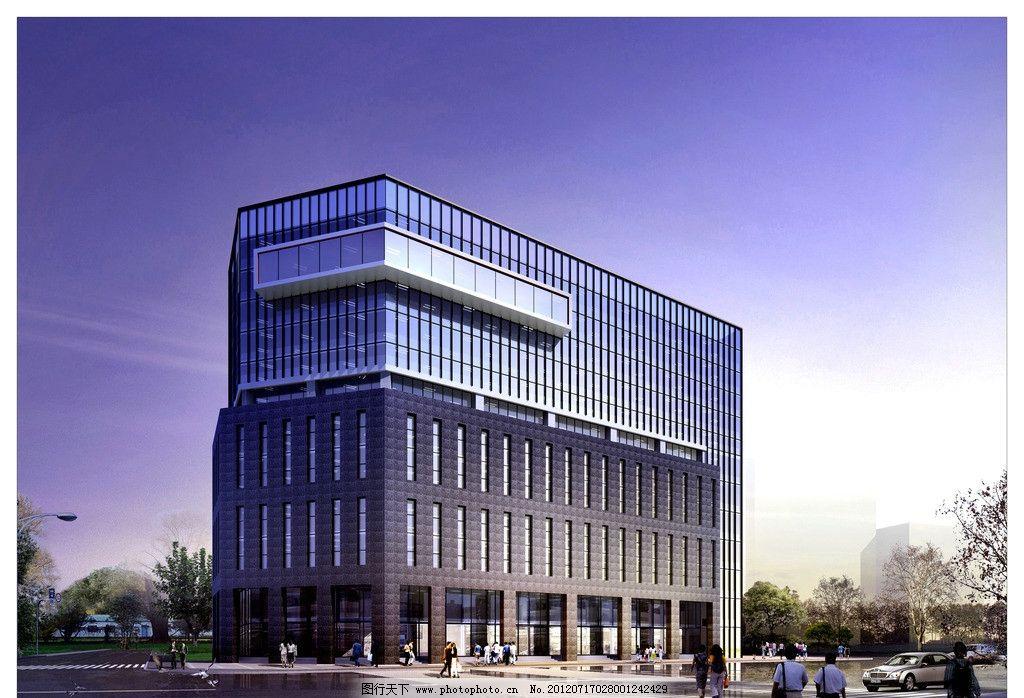 商业办公楼效果图图片_建筑设计_环境设计_图行天下