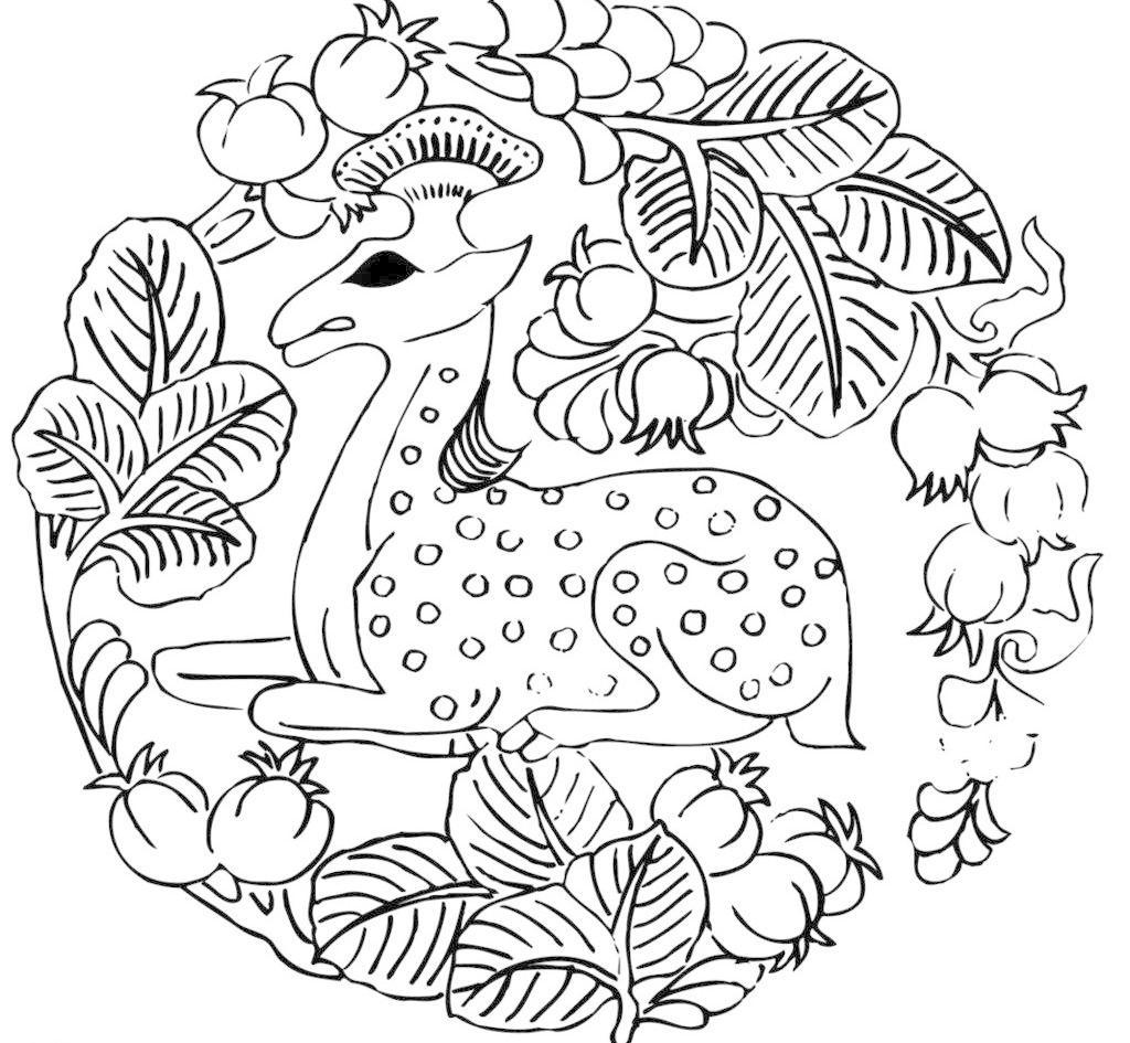 传统文化 刺绣 古代 花纹 神兽 水果 图案 文化 刺绣 水果 神兽矢量
