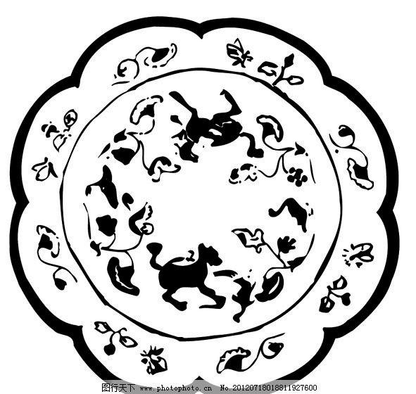 刺绣 花纹 动物图片